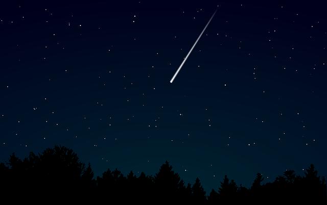 Sternschnuppen Zeit