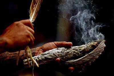Indianische Schamanin